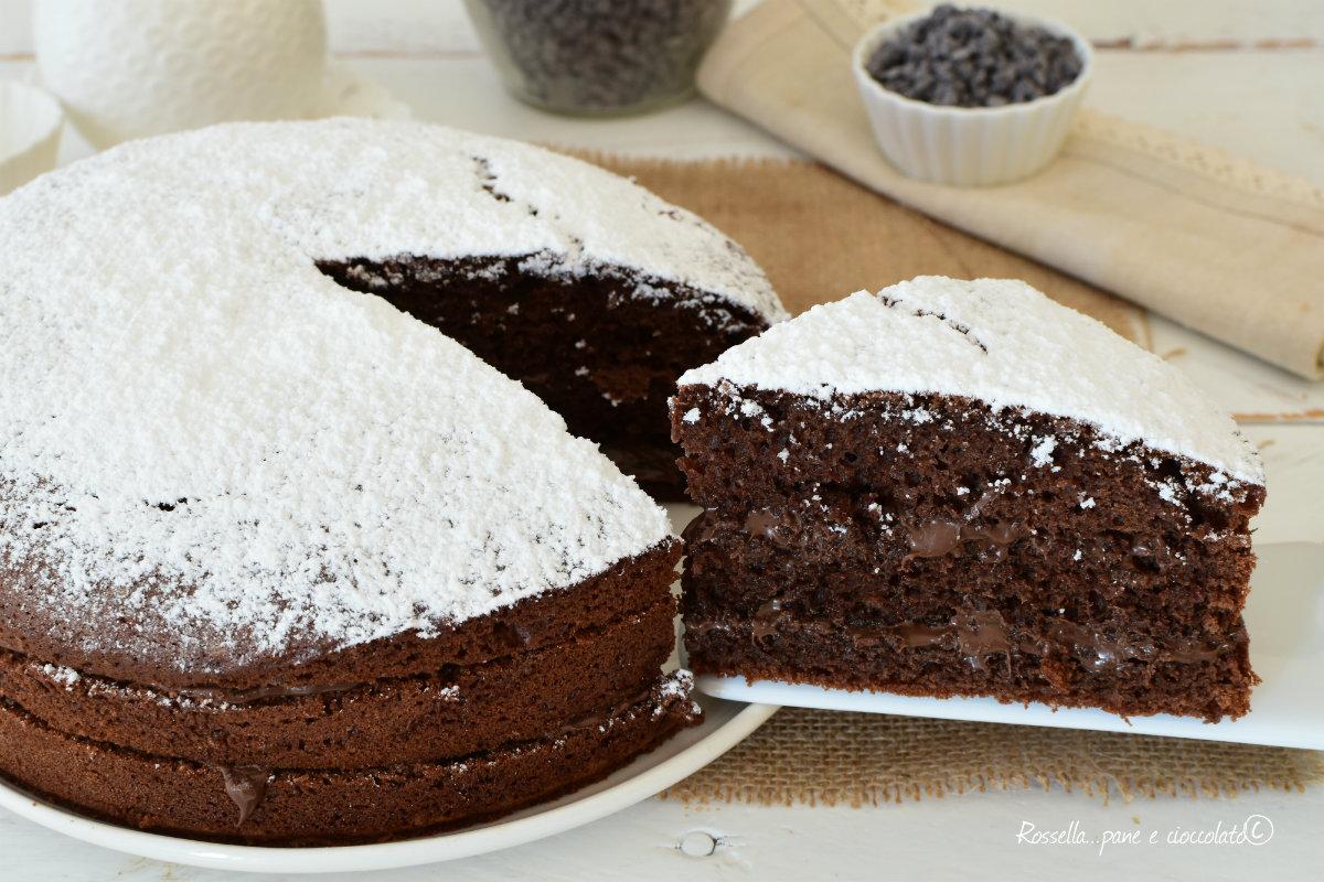TORTA al Cioccolato Impasto allo Yogurt Ripiena alla Nutella