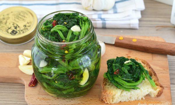 Broccoli sott' olio croccanti