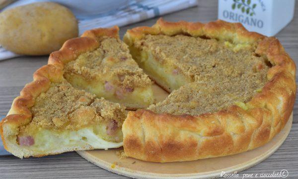 Torta Gateau di patate e pasta pizza