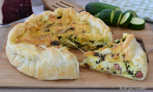 Torta di Pasta Sfoglia Ricotta Prosciutto e Zucchine