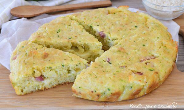TORTA Salata di ZUCCHINE Riso e Mozzarella Soffice