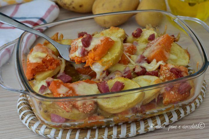 Contorno di Zucca e Patate filante