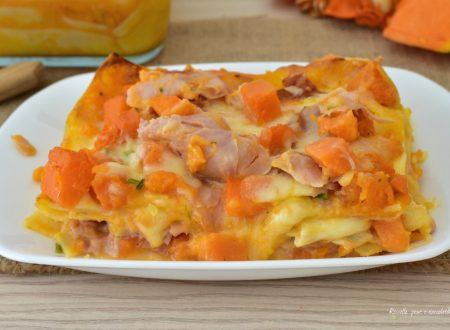Lasagne al Forno Zucca e Prosciutto Cotto