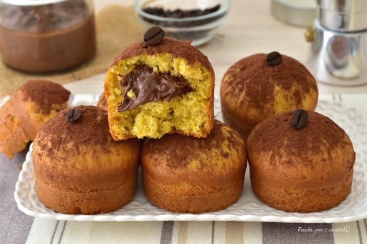 Muffin DOLCI Ripieni di Nutella