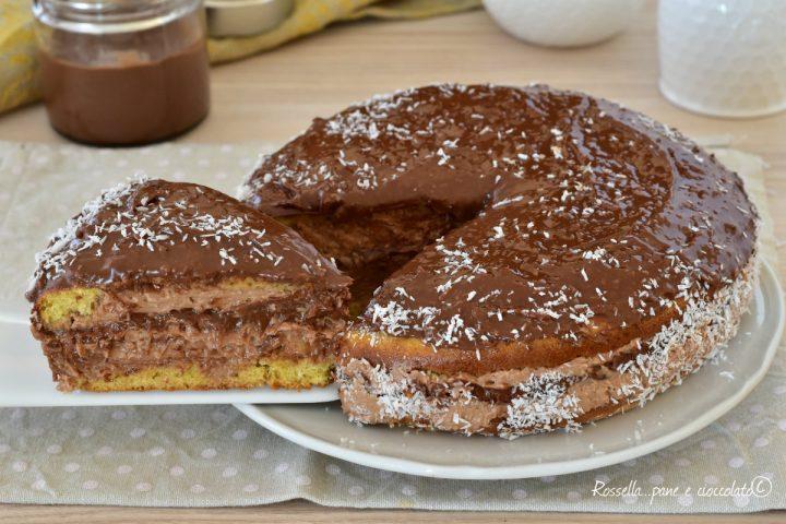 Torta Nutella Cocco e Ricotta
