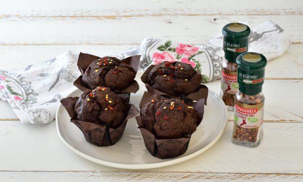 Muffin Cioccolato e Peperoncino Dolce facile