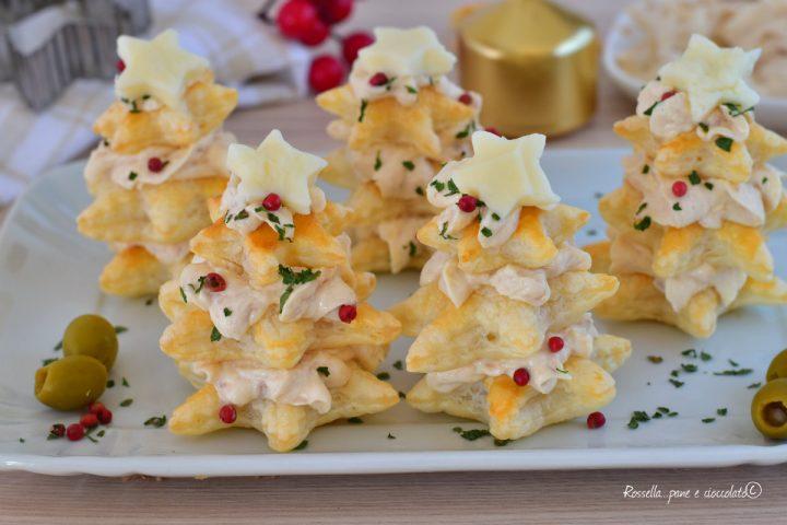 Antipasti Alberelli Di Natale.Alberi Antipasto Di Natale Ripieni E Con Pasta Sfoglia Veloci