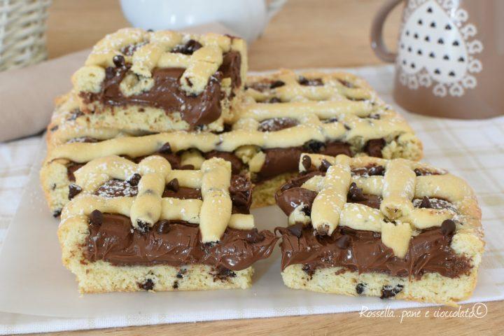 Crostata Ripiena di Nutella cremosa