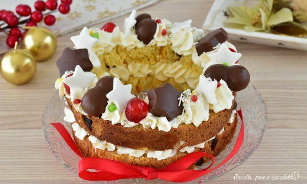 Cream tart di Panettone Ricetta Dolce  Ripieno di crema