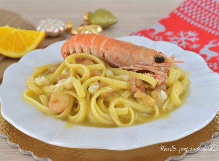 Spaghetti della Vigilia Primo Piatto di Pasta con Scampi