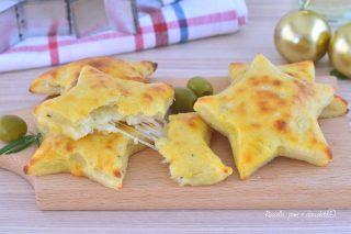 Stelle di Patate Ripiene di Mozzarella da Antipasto