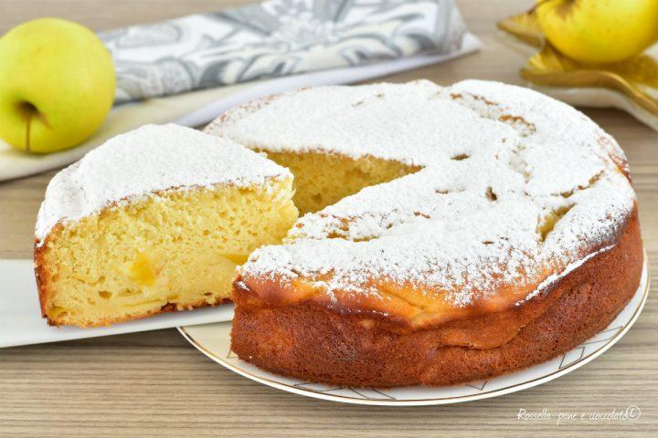 TORTA di MELE Ricotta e limone senza Farina cremosa