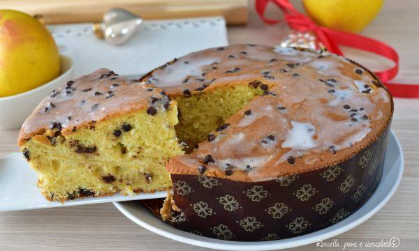 Torta di Mele Panettone Dolce senza lievitazione con cioccolato