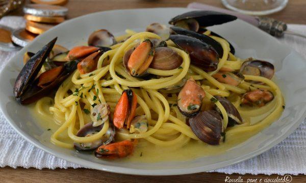 Spaghetti Cozze e Vongole Primo PIATTO di Pasta Cucina veloce