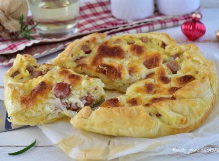 Torta Riso Mozzarella e Wurstel ANTIPASTO con pasta sfoglia