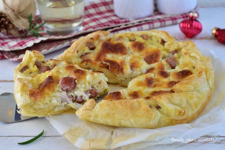 Torta Riso Mozzarella e Wurstel