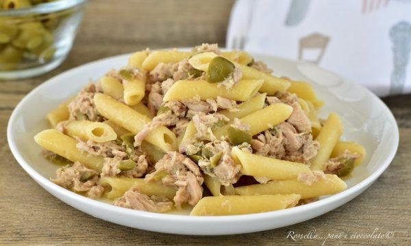 PASTA in Bianco Tonno e Olive Ricetta Piatto superveloce