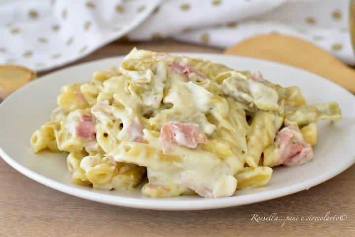 penne ai carciofi primo piatto facile pasta con verdure pasta veloce ricetta semplice di pasta