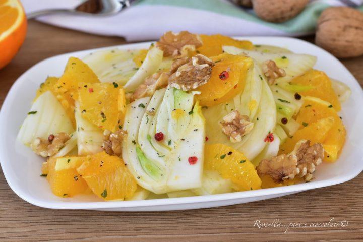 insalata di finocchi e noci arance ricetta contorno