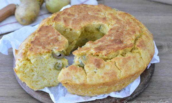 CIAMBELLA di Patate Salata con Olive Ricetta Antipasto