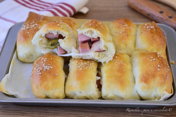 panini di focaccia olive e prosciutto cotto