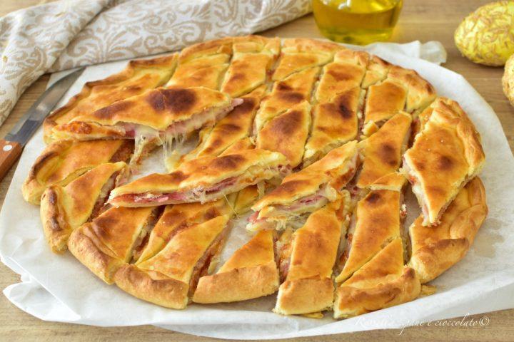 Antipasto di Pasqua di Pasta Brisee RICETTA Ripiena in 20 min