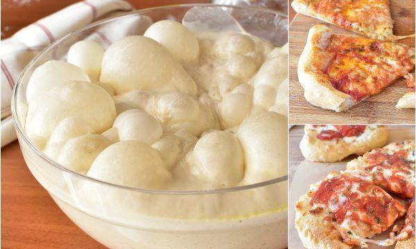 Impasto per PIZZA RICETTA Pizzeria Cotta nel forno di casa