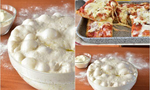 Impasto per PIZZA in Teglia Fatta in Casa RICETTA con poco Lievito