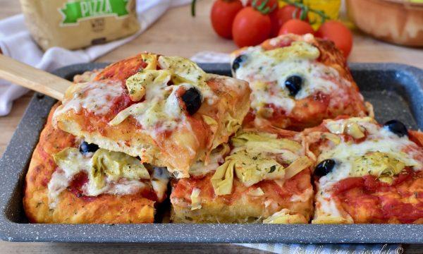 PIZZA di Semola Fatta in Casa rustica RICETTA con poco Lievito