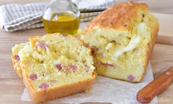 Plumcake Salato da ANTIPASTO Ricetta con Cotto e Mozzarella