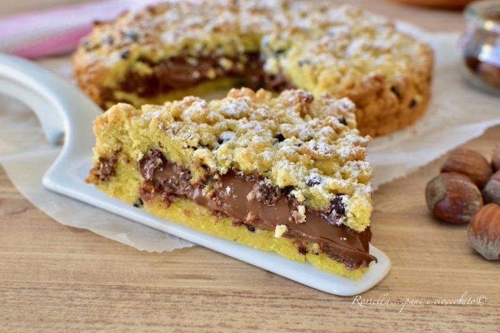 Torta di Pasta Frolla 5 minuti con Nutella Ricetta DOLCE