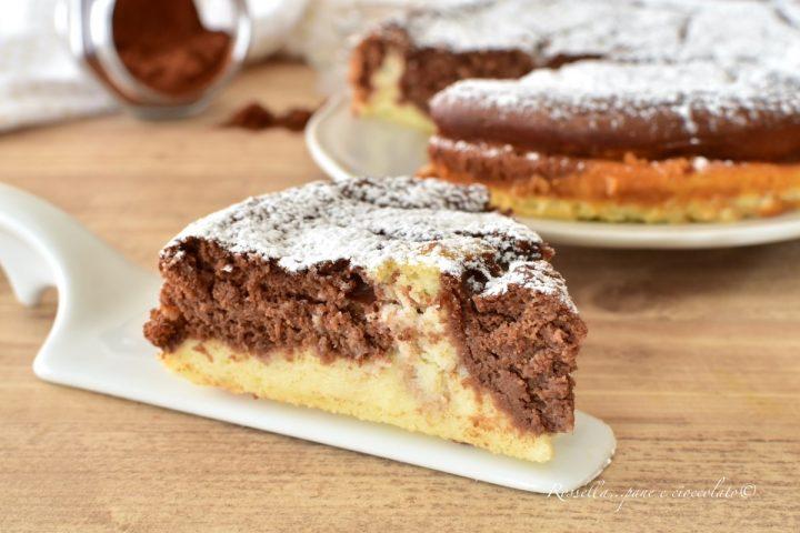 TORTA Variegata Cremosa Ricetta DOLCE al Cioccolato
