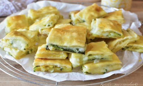 Antipasti Mini di ZUCCHINE e Mozzarella ripieni con Pasta sfoglia