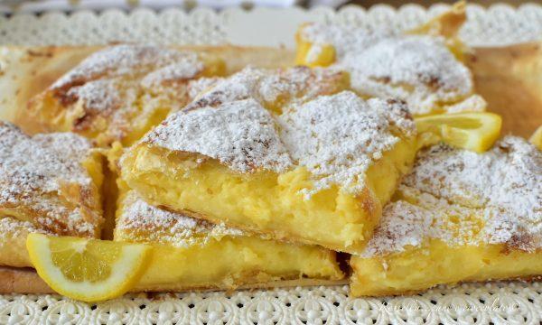 DOLCI Quadrotti di Pasta Sfoglia al limone RICETTA veloce