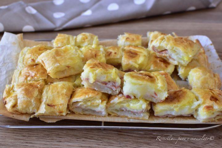 Mini Antipasti di Pasta Sfoglia Ripieni di Patate Ricetta velocissima
