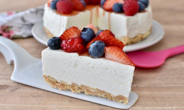 CHEESECAKE allo Yogurt Ricetta senza Cottura DOLCE fresco più buono