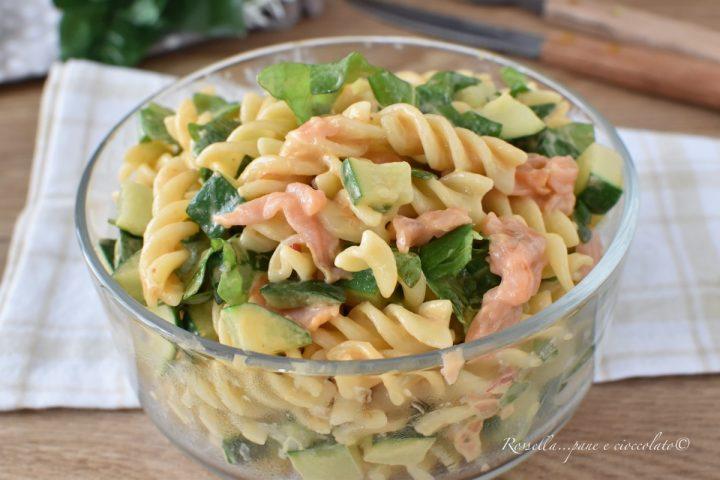 INSALATA di PASTA fredda con Zucchine e Salmone Piatto estivo