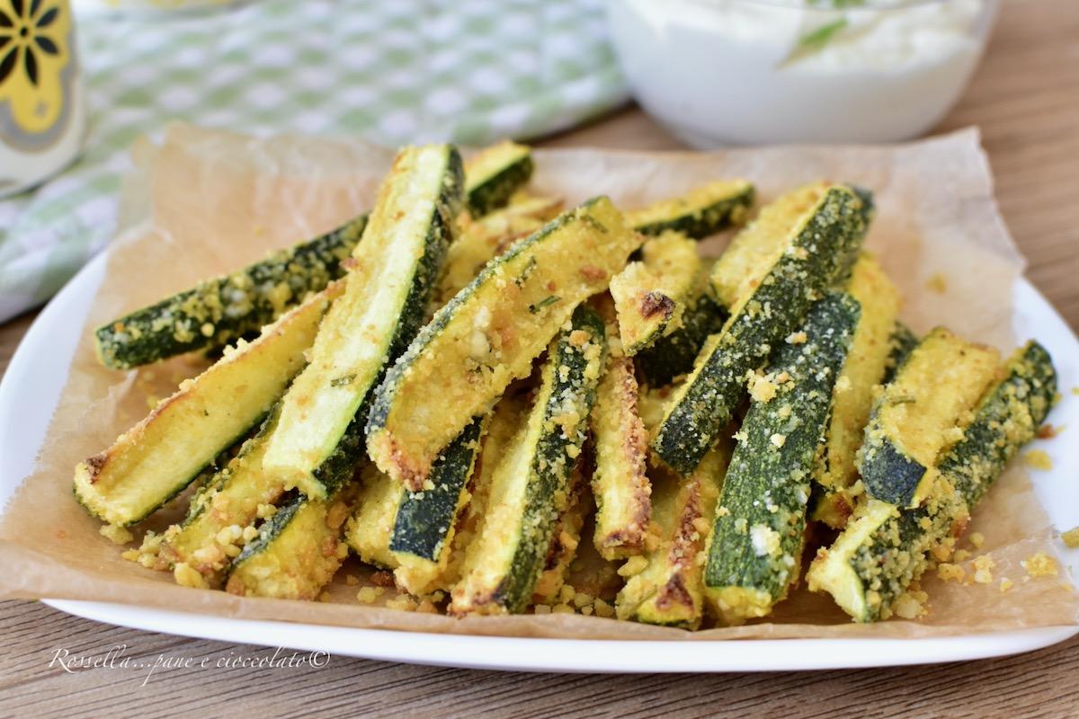 Ricette Zucchine Giallo Zafferano.Zucchine Al Forno Croccanti Ricetta Contorno Facile Con Impanatura