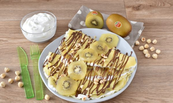 Crespelle Dolci con Kiwi Ricetta senza burro e senza latte