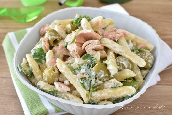 insalata di pasta fredda tonno e olive