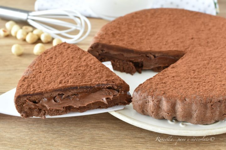 Torta Biscotto alla Nutella Ricetta Senza COTTURA Dolce Senza Burro