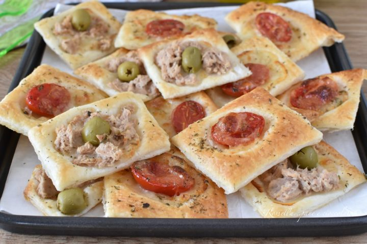ANTIPASTI Veloci misti Tonno e Pomodoro Ricetta con Pasta Sfoglia