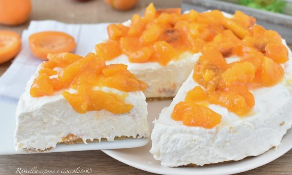 CHEESECAKE Ricotta e Albicocche Ricetta senza Cottura Dolce dessert