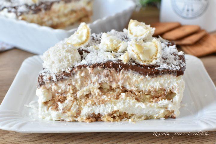 Semifreddo Cheesecake Cocco e Nutella Ricetta DOLCE dessert estivo