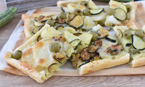 SFOGLIA di ZUCCHINE e Patate con mozzarella Ricetta ANTIPASTO