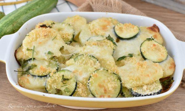 ZUCCHINE e Patate al Parmigiano e Mozzarella Ricetta Contorno