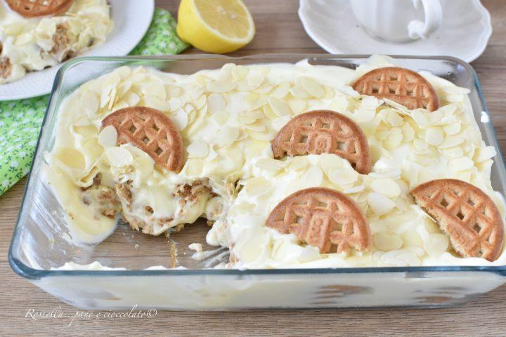 Biancomangiare Semifreddo al Limone Ricetta Dolce con Biscotti