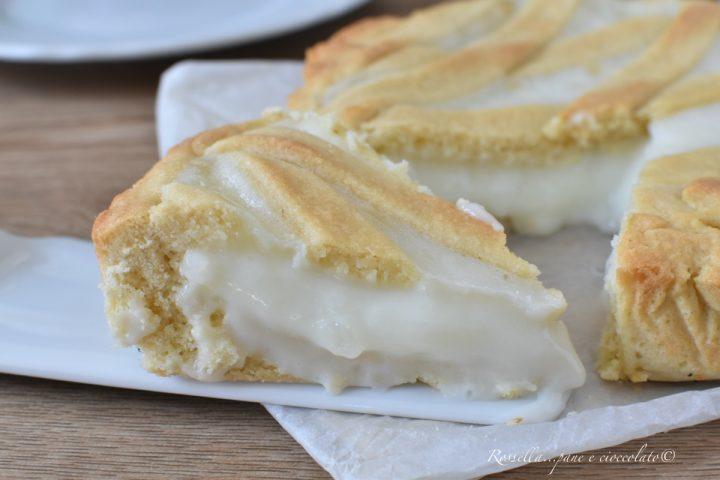 CROSTATA alla Crema Latte di Pasta Frolla morbida Ricetta DOLCE