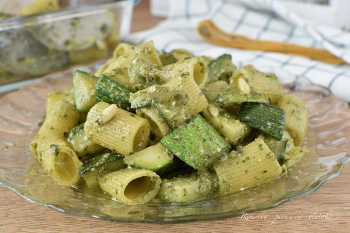 PASTA al Pesto con ZUCCHINE Ricetta Primo Piatto facile e cremoso