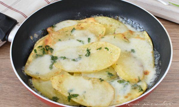 Patate al Parmigiano in Padella Ricetta Piatto Contorno o Antipasto